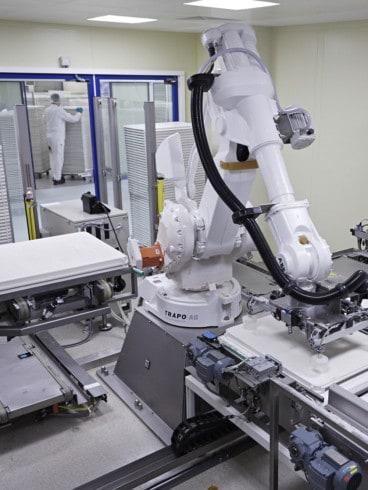 Roboterpalettierer in der Pharmaindustrie