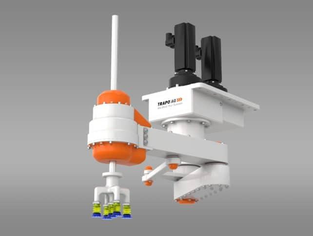 Sauggreifer am Kinematik-Picker. TRAPO entwickelt und fertigt Robotergreifer.